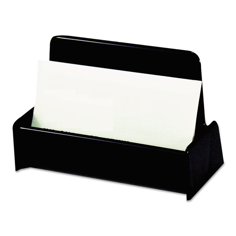 Picture of Business Card Holder, Capacity 50 3 1/2 x 2 Cards, Black