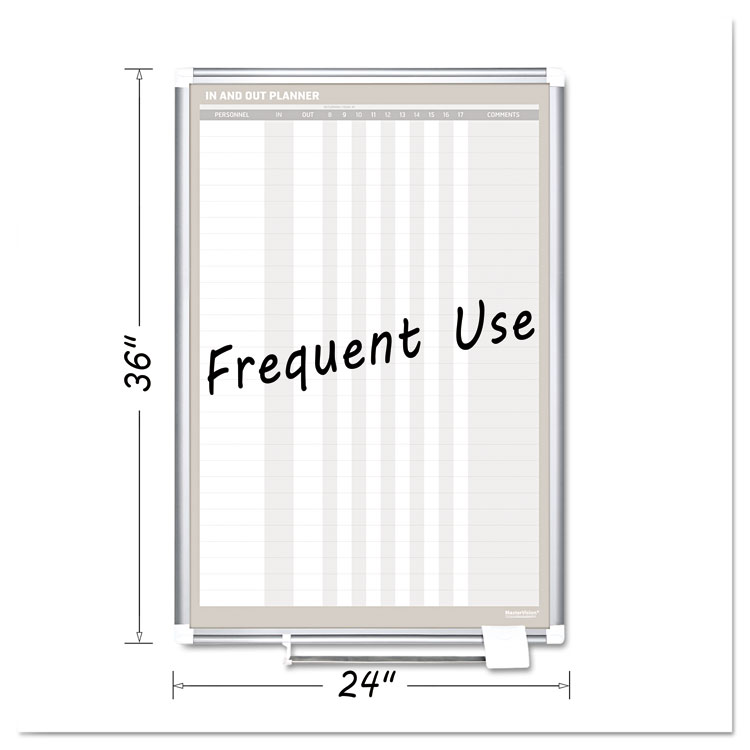 Picture of In-Out Magnetic Dry Erase Board, 24x36, Silver Frame