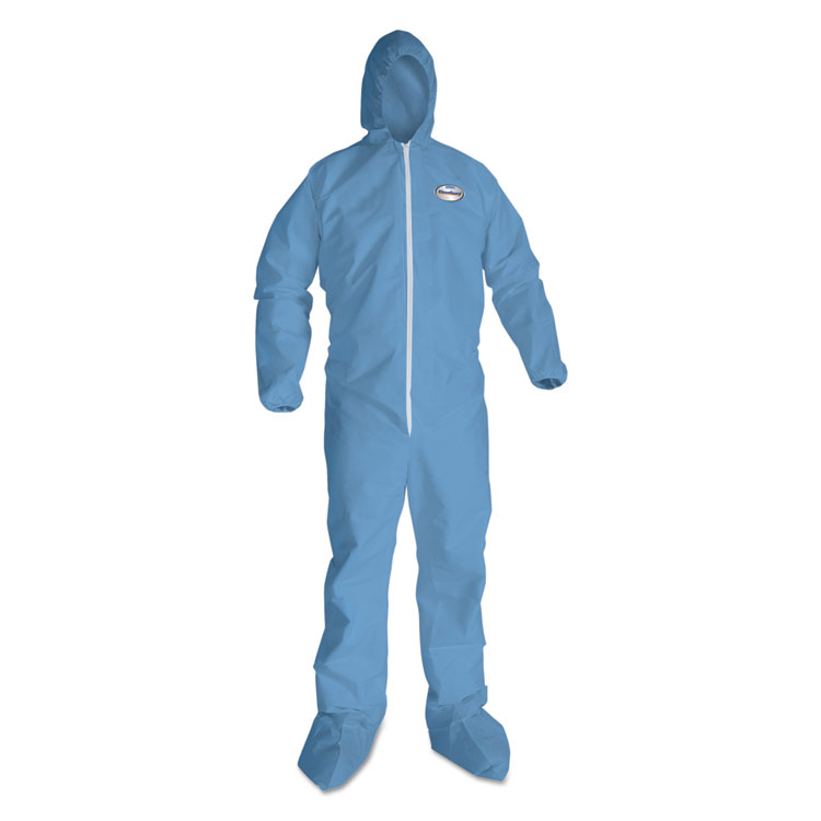 Picture of Kleenguard A65 Hood & Boot Flame-Resistant Coveralls, Blue, 2X-Large, 25/Carton (KCC45355)