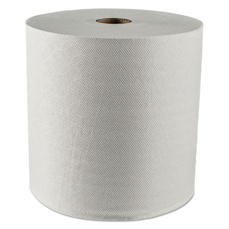 "Picture of Hard Roll Towels, 1.5"" Core, 8 x 425ft, White, 12 Rolls/Carton"