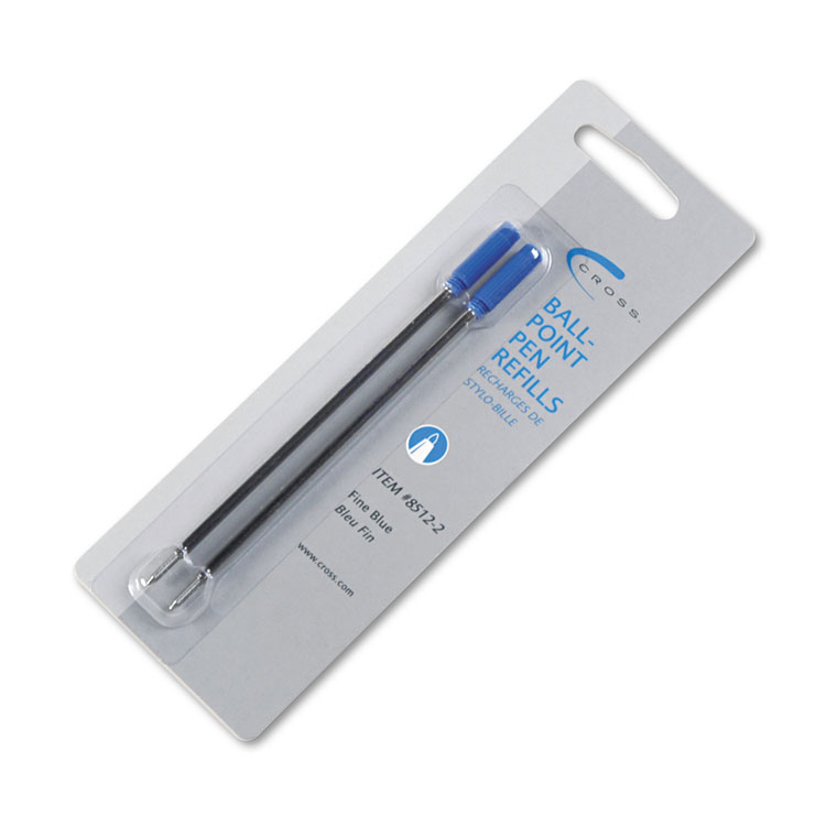 Picture of Refills for Ballpoint Pens, Fine, Blue Ink, 2/Pack