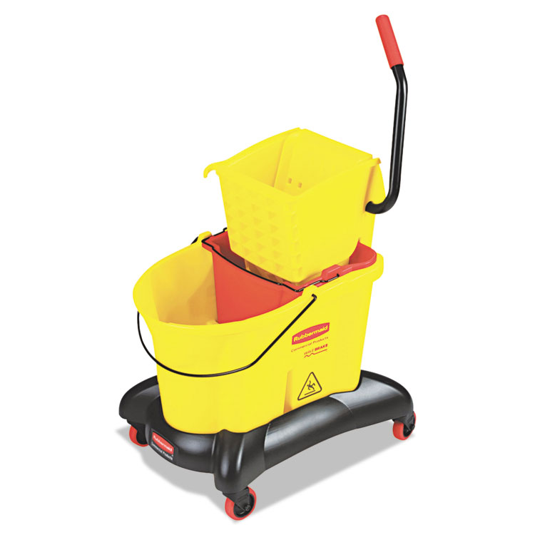 Picture of Wavebrake 35 Qt Dual Water Side Press Mop Bucket & Wringer, Yellow