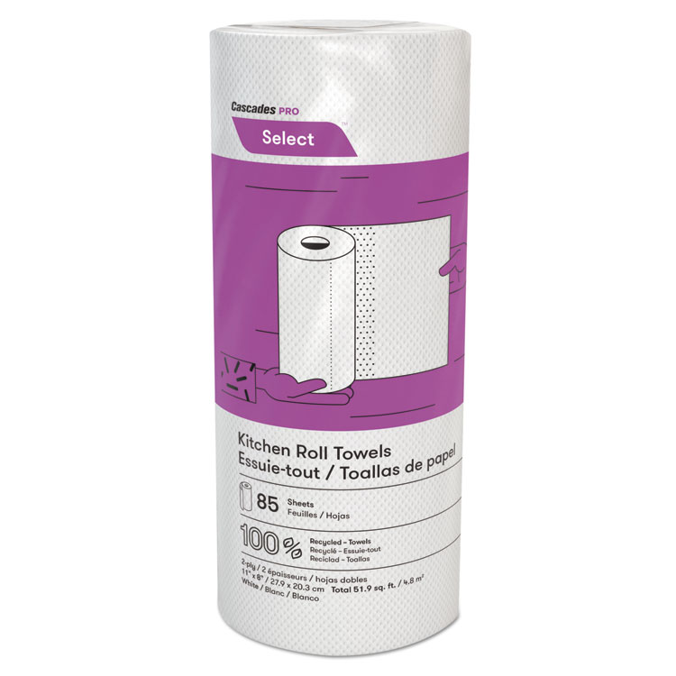 Picture of Select Kitchen Roll Towels, 2-Ply, 8 X 11, 85/roll, 30/carton