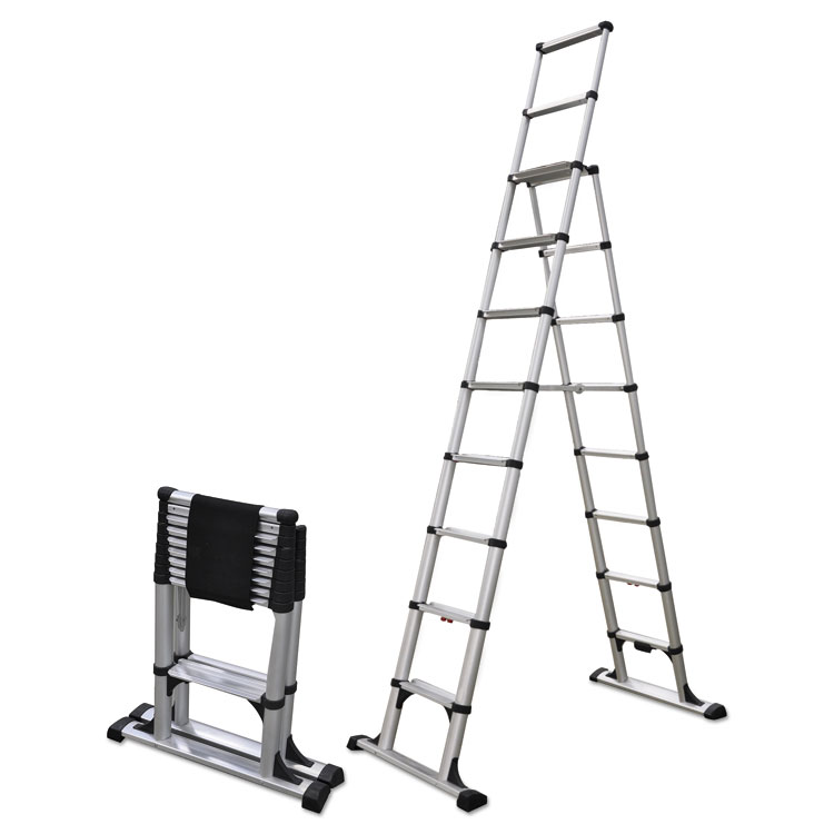 elevate marketplace affordable business supplies online telescopic a frame ladder 14 ft. Black Bedroom Furniture Sets. Home Design Ideas