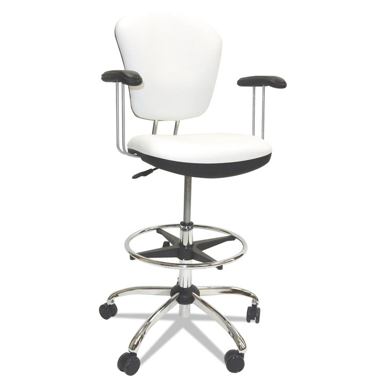 Picture of Lab And Healthcare Seating, White, Vinyl