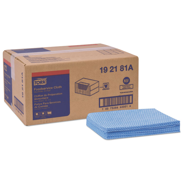 "Picture of Foodservice Cloth, 21"" X 13"", Blue, 240/Box"