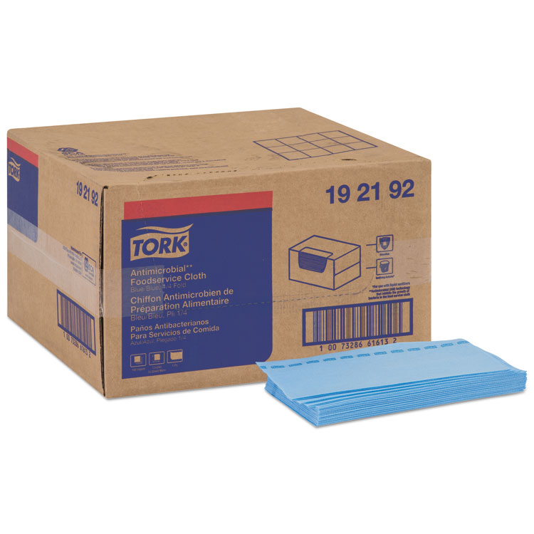 "Picture of Tork® Foodservice Cloth, 24"" X 13"", Blue, 150/Box (TRK192192)"