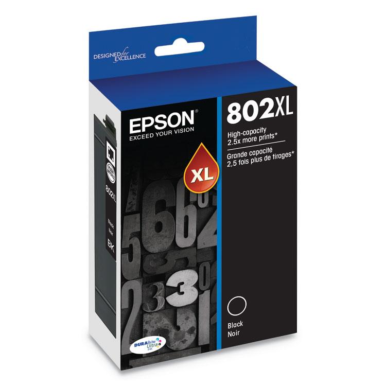 T802XL120S (802XL) DURABrite Ultra High-Yield Ink, 2600 Page-Yield, Black