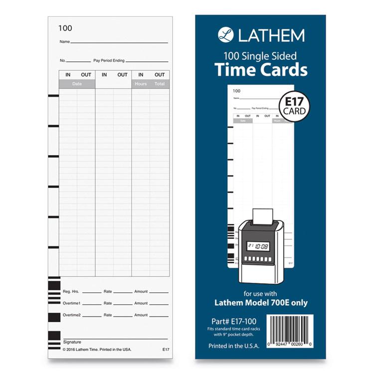 Lathem® Time E17100