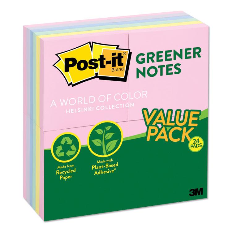 Post-it® Greener Notes 654RP-24-AP