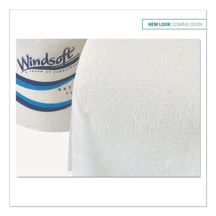 Embossed Bath Tissue, 2-Ply, 400 Sheets/Roll, 18 Rolls/Carton