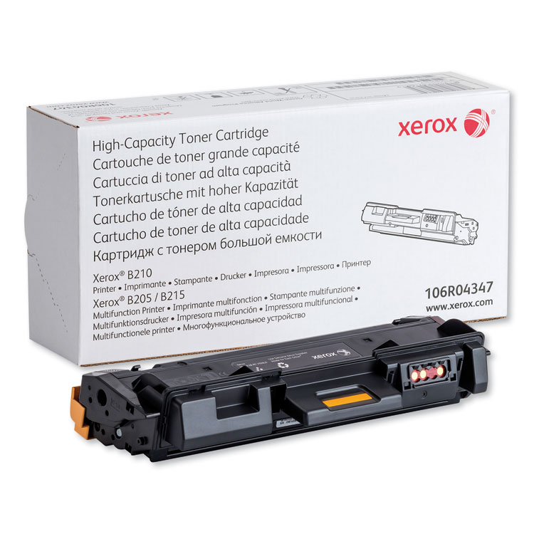 106R04347 High-Yield Toner, 3,000 Page-Yield, Black