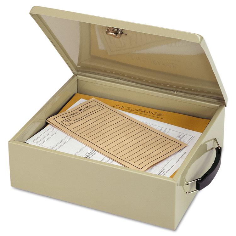 Picture of Jumbo Cash Box w/Lock, Sand