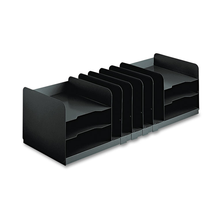 Picture of Adjustable Organizer, 11 Sections, Steel, 30 x 11 x 8 1/8, Black