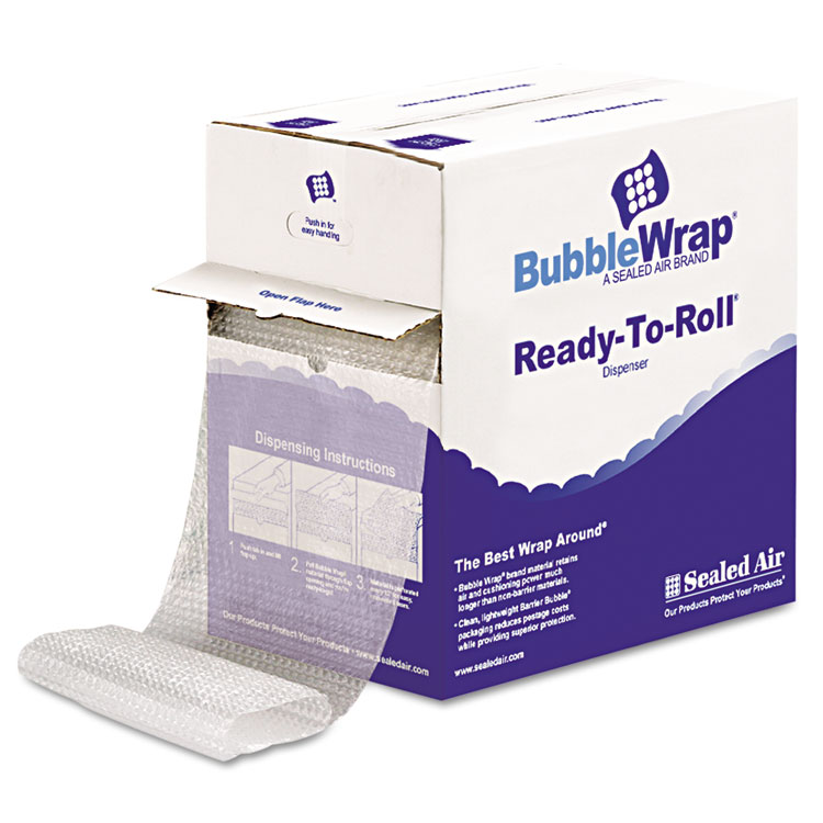 """Picture of Bubble Wrap® Cushion Bubble Roll, 1/2"""" Thick, 12"""" x 65ft"""