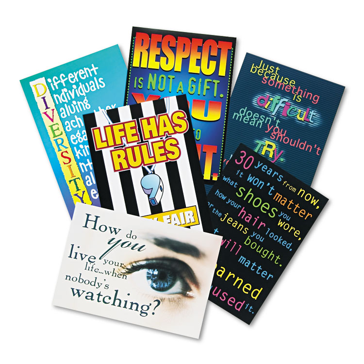 """Picture of """"Building Character"""" ARGUS Poster Combo Pack, 13 3/8 x 9, 6/Pack"""