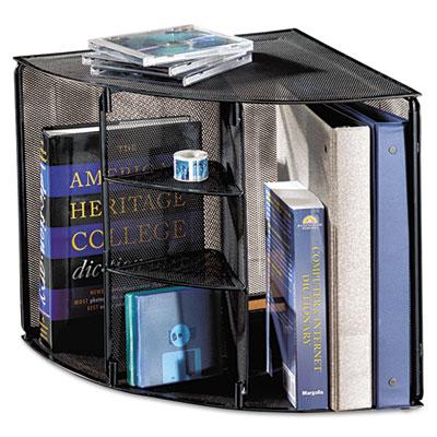 Rol 62630 Rolodex Mesh Corner Desktop Shelf Five