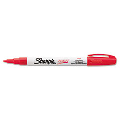Permanent Paint Marker, Fine Bullet Tip, Red