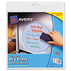 Peel & Stick Dry Erase Decals, Quotes, 10 x 10 Sheets, Yellow, 3/Pack