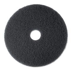 "Low-Speed Stripper Floor Pad 7200, 13"" Diameter, Black, 5/Carton"
