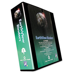 "Earthview Round Ring Presentation Binder, 3"" Capacity, Black"
