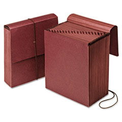 Vertical Indexed Expanding File, 21 Sections, 1/21-Cut Tab, Letter Size, Red Fiber