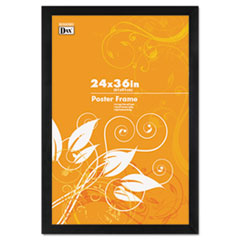 Black Solid Wood Poster Frames with Plastic Window, Wide Profile, 24 x 36