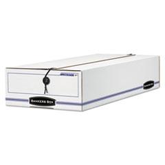 "LIBERTY Check and Form Boxes, 6.25"" x 24"" x 4.5"", White/Blue, 12/Carton"
