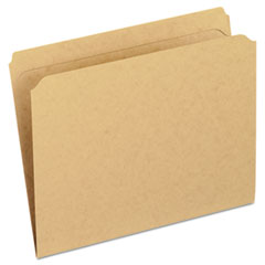 Two-Ply Dark Kraft File Folders, Straight Cut Top Tab, Letter, Kraft, 100/Box