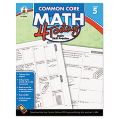 Common Core 4 Today Workbook, Math, Grade 5, 96 pages