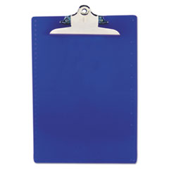 "Recycled Plastic Clipboard with Ruler Edge, 1"" Clip Cap, 8 1/2 x 12 Sheets, Blue"