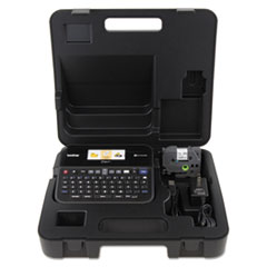 PT-D600VP PC-Connectable Label Maker with Color Display and Carry Case, 30 mm/s Print Speed, 8 x 7.63 x 3.38