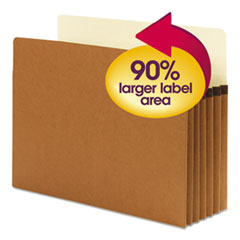 """SuperTab Pockets, 5.25"""" Expansion, Letter Size, Redrope, 10/Box"""