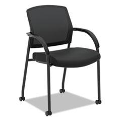 "Lota Series Guest Side Chair, 23"" x 24.75"" x 34.5"", Black"
