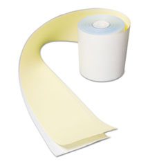 "No Carbon Register Rolls, 3"" x 90 ft, White/Yellow, 30/Carton"