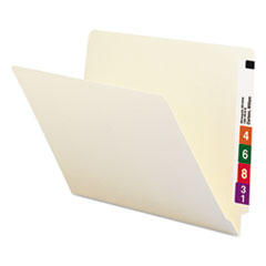 "Heavyweight Manila End Tab Folders, 9.5"" Front, 1-Ply Straight Tab, Letter Size, 100/Box"