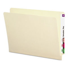 Shelf-Master Heavyweight Manila End Tab Folders, Straight Tab, Letter Size, 50/Box