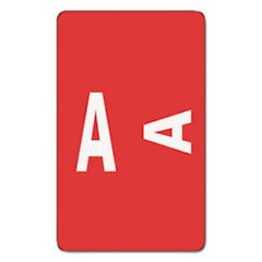 AlphaZ Color-Coded Second Letter Alphabetical Labels, A, 1 x 1.63, Red, 10/Sheet, 10 Sheets/Pack