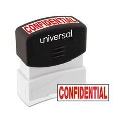Message Stamp, CONFIDENTIAL, Pre-Inked One-Color, Red
