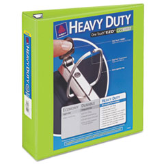 "Heavy-Duty View Binder w/Locking 1-Touch EZD Rings, 2"" Cap, Chartreuse"
