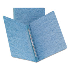 Side Opening Press Guard Report Cover, Prong Fastener, Letter, Blue