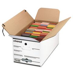 Economy Storage Box, Tie Close, Ltr, Fiberboard, White, 4/Carton