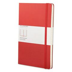 Classic Colored Hardcover Notebook, Narrow Rule, Red Cover, 8.25 x 5, 240 Pages
