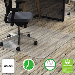 Polycarbonate All Day Use Chair Mat - Hard Floors, 45 x 53, Rectangle, CR