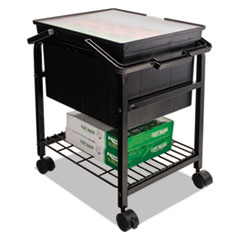 Heavy-Duty File Shuttle, 17 1/8w x 14 1/4d x 20h, Black