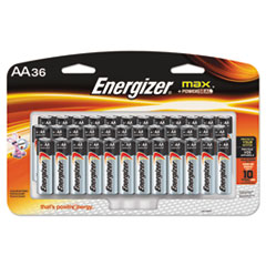 MAX Alkaline AA Batteries, 1.5V, 36/Pack
