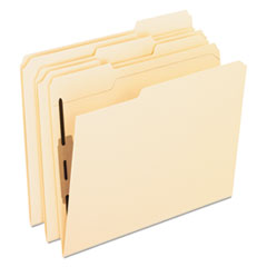 Manila Folders with Two Bonded Fasteners, 1/3-Cut Tabs, Letter Size, 50/Box