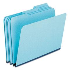 Pressboard Expanding File Folders, 1/3-Cut Tabs, Legal Size, Blue, 25/Box