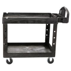 Heavy-Duty Utility Cart, Two-Shelf, 25.9w x 45.2d x 32.2h, Black