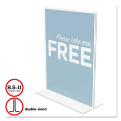 Classic Image Double-Sided Sign Holder, 8 1/2 x 11 Insert, Clear